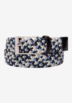 Elastic Braid Belt, BLUE STEEL MULTI