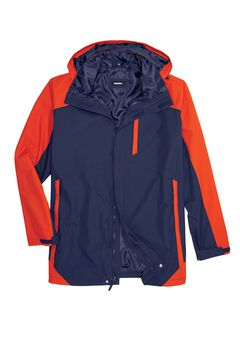 4-in-1 System Water-Resistant Outer Shell Jacket,