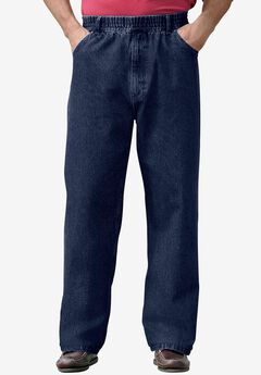 Loose Fit Comfort Waist Jeans , INDIGO