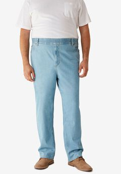 Loose Fit Comfort Waist Jeans ,