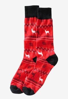 Holiday Socks, REINDEER