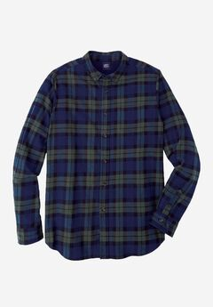 Plaid Flannel Shirt by Liberty Blues®, TARTAN PLAID, hi-res