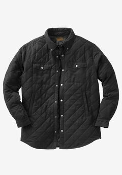 Quilted Shirt Jacket by Boulder Creek®, BLACK, hi-res
