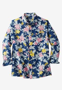 Linen Blend Dress Shirt by KS Island™, FLORIDIAN