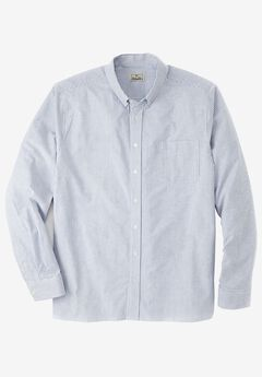 Long-Sleeve Stretch Oxford by Liberty Blues®, CLASSIC BLUE STRIPE, hi-res