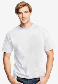 Hanes® ComfortSoft Heavyweight Cotton Crew T-Shirt, WHITE, hi-res