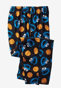 Novelty Pajama Pants, COOKIE MONSTER, hi-res