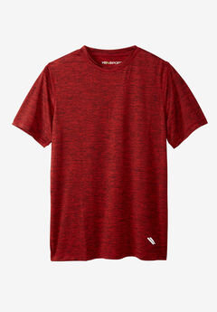 Performance Crewneck Tee by KS Sport™, BLAZE RED, hi-res