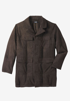 Microsuede Car Coat,