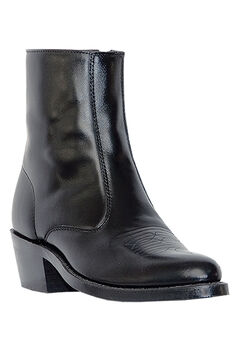 Laredo 7' Leather Zip Western Boots, BLACK, hi-res