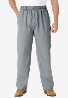 Knockarounds® Plain Front Pants in Twill or Denim, LIGHT GREY, hi-res
