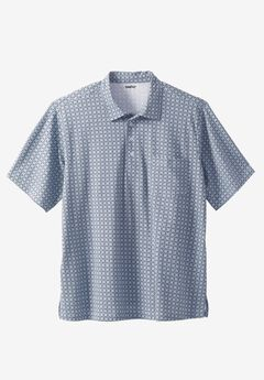 Golf Polo With Pocket, BLUE HARBOR PRISM