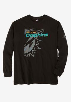 NFL® Long-Sleeve Logo Tee, DOLPHINS