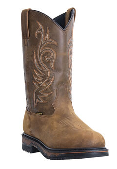 Laredo 11' Contrast Stitch Wellington Boots, TAN, hi-res