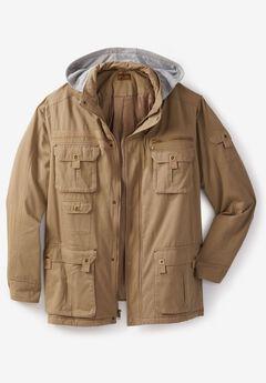 Multi-Pocket Lined Twill Jacket by Boulder Creek®,