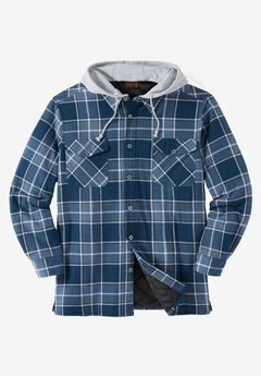 Removable Hood Shirt Jacket by Boulder Creek®, , hi-res