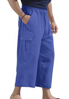 Judo Gauze Cotton Cargo Shorts with Full Elastic Waist,