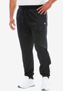 Velour Colorblocked Track Pants by Champion®, BLACK, hi-res