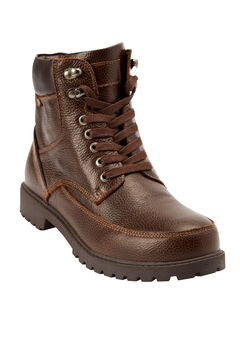 Zip-up Work Boots by Boulder Creek®, DARK BROWN, hi-res