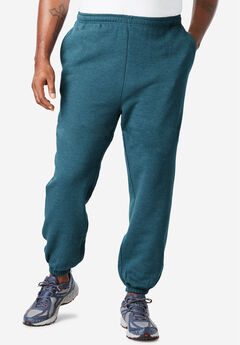 Fleece Sweatpants with Elastic Cuff,