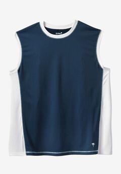 Muscle Swim Shirt by KS Island™, NAVY WHITE, hi-res