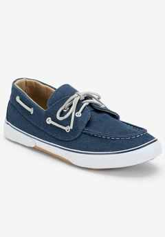 Canvas Velcro® Boat Shoe, STONEWASH DENIM, hi-res