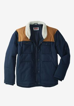 Woodsman Puffer Trucker Jacket by Levis®, NAVY TAN