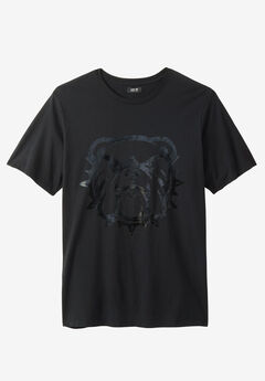Bulldog Tee by MVP Collections®, BLACK