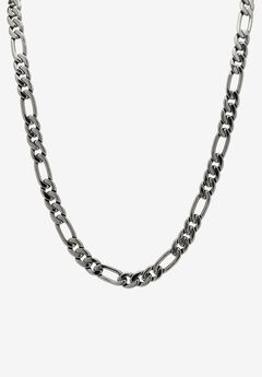Black Figaro-Link Necklace ,