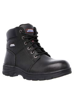 Workshire Relaxed Fit Steel-Toe Work Boot by Skechers®, BLACK, hi-res