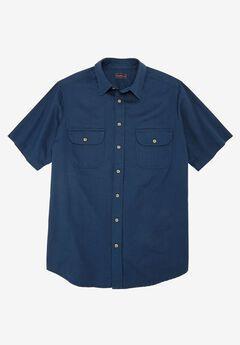 Short-Sleeve Renegade Shirt by Boulder Creek®, BLUE INDIGO, hi-res