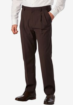 No Hassle® Modern Fit Expandable Waist Double-Pleat Dress Pants,