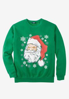 Holiday Sweatshirt, ANGRY SANTA, hi-res