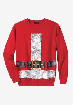 Holiday Sweatshirt, SANTA SUIT, hi-res
