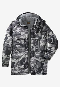 Expedition Parka by Boulder Creek®, STEEL CAMO