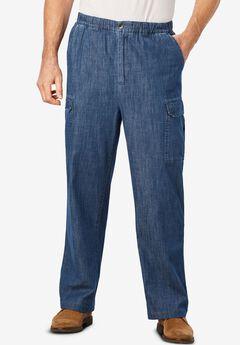 Full Elastic Waist Cargo Pants,