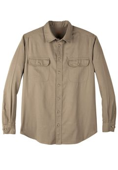 Long-Sleeve Renegade Shirt by Boulder Creek®, DARK KHAKI