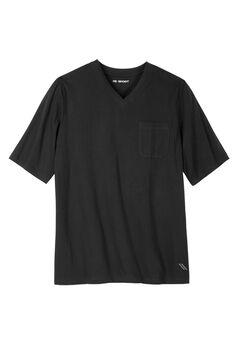 Comfort Cool V-neck Tee by KS Sport™, BLACK, hi-res