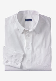 Modern Fit Long-Sleeve Broadcloth Flex Dress Shirt by KS Signature, WHITE, hi-res