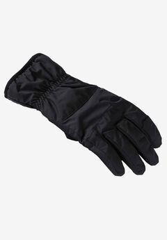 Casual Nylon Gloves, BLACK, hi-res