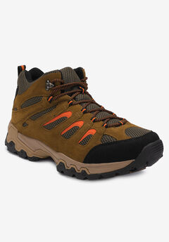 Rugged Lace-up Hiking Boots by Boulder Creek®, BROWN SUEDE, hi-res