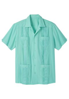 Short-Sleeve Guayabera Shirt by KS Island™,