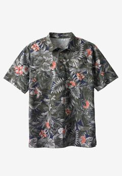 Floral Polo by KS Island™, NAVY FLORAL, hi-res