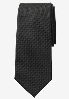 Extra Long Solid Tie by KS Signature, BLACK, hi-res
