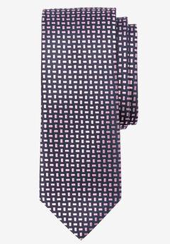 Extra Long Geometric Tie, CLASSIC PINK GEO