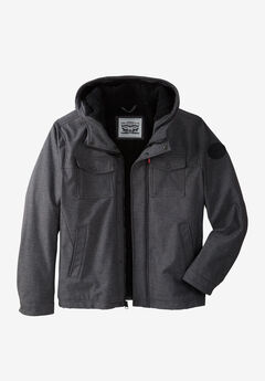 Two Pocket Sherpa-Lined Hooded Trucker Jacket by Levi's®,