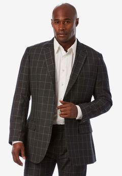 Easy Movement® Two-Button Jacket by KS Signature, CHARCOAL WINDOW PANE