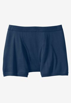 Color Cotton Boxer Briefs by Kings' Court®, NAVY
