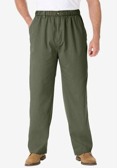 Knockarounds® Plain Front Pants in Twill or Denim, OLIVE, hi-res
