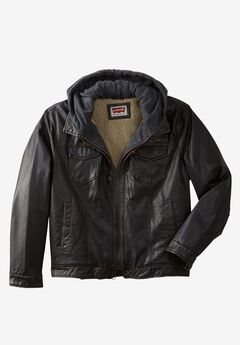 Faux Leather Trucker Jacket by Levi's®,